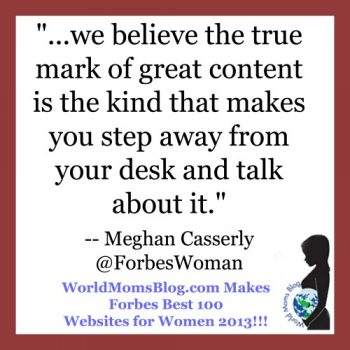 """World Moms Blog Listed by Forbes 2 Years Running in """"100 Best Websites for Women 2013"""""""