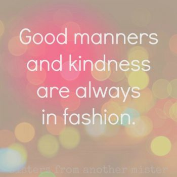 FLORIDA, USA: Good Manners & Kindness