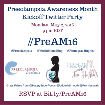 On Twitter? Join us 9pm EDT for @Preeclampsia with @Finnegan_Hughes! #PreAM16