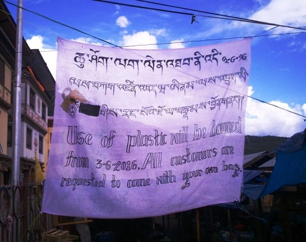 Plastics are Banned in Bhutan