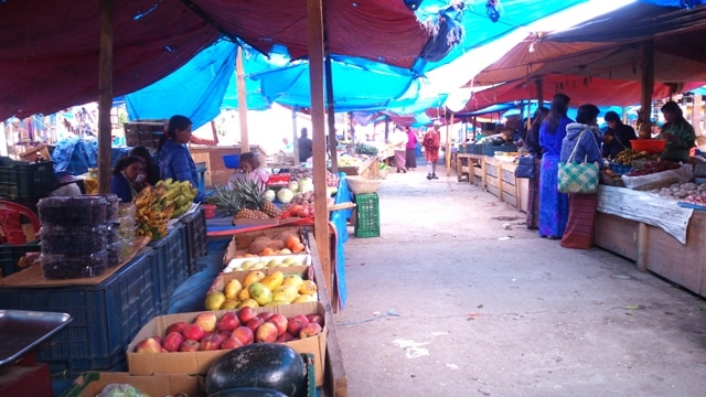 Vegetable Market in Paro, Bhutan
