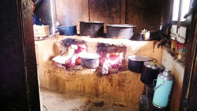 The Restaurant Kitchen Using Fire Wood Fuel