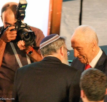ISRAEL: Goodbye, Shimon Peres