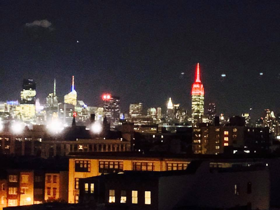 The Empire State Building was lit red on October 11th, 2016 for International Day of the Girl by Save the Children. Photo credit to Marshall Kanfer.