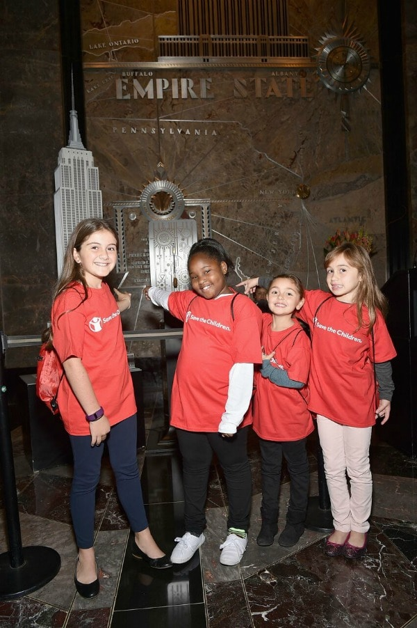 From L-R: Save the Children girl power: Kate, Miracle, Colette and Antonella.