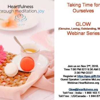 GLOW: #Heartfulness Webinar – Taking Time for Ourselves by Lorraine McLoughlin