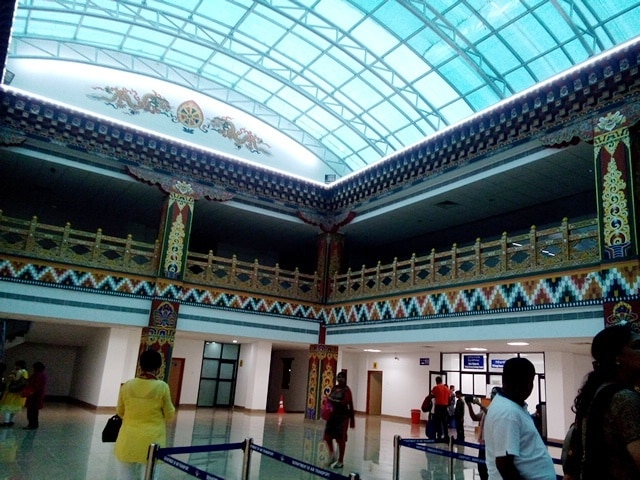 Inside of the Beautiful Paro Airport