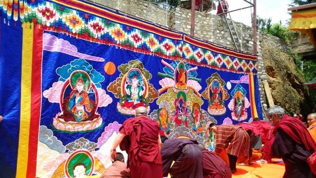 Tanghka Fully Unrolled in Zilukha Nunnery
