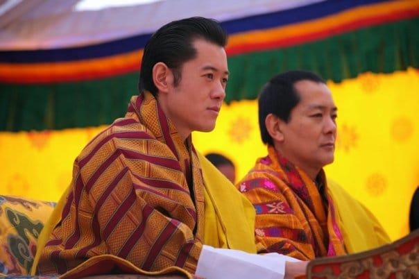 The King of Bhutan and his Father