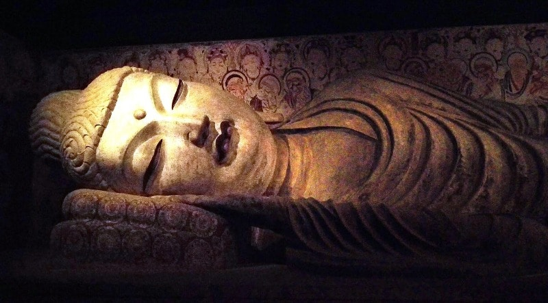 Reclining Buddha - just before his parinirvana