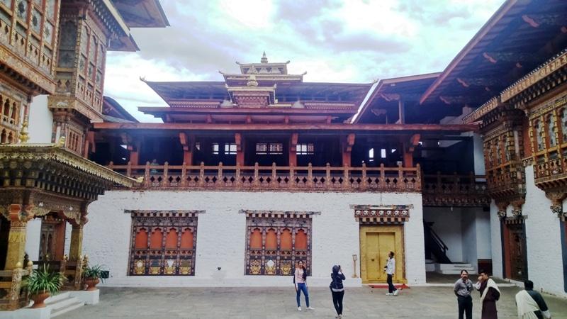 Courtyard Inside Punakha Dzong