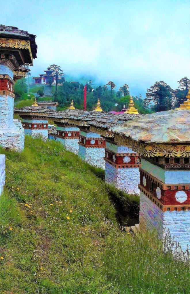Rows of beautiful chortens