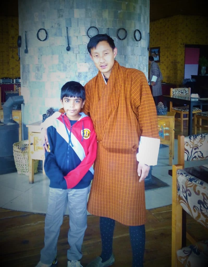 Dorji and the author's son